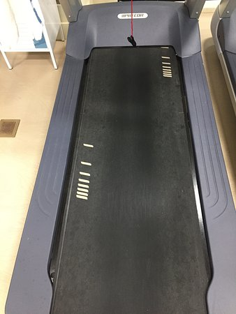 Norwood, MA: dried sweat on the treadmills
