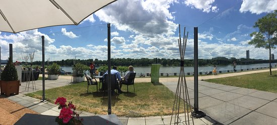 Kameha Grand : View to the Rhine river from hotel's restaurant