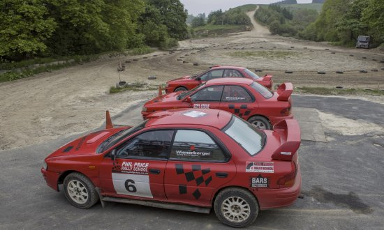 Phil Price Rally School: Drive these cars if you dare.