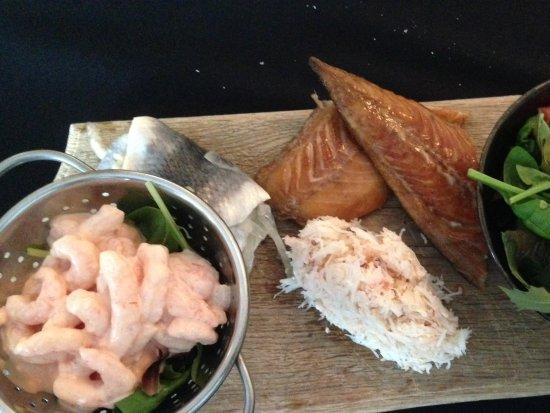 Runswick, UK: Seafood platter