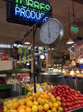This is a fruit stand at the Grand Central Market down the street from the Kawada Hotel.