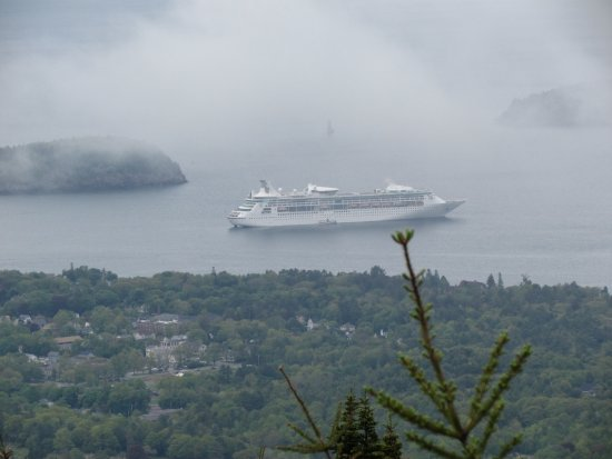 Acadia National Park Tours: Our ship from Cadillac Mountain