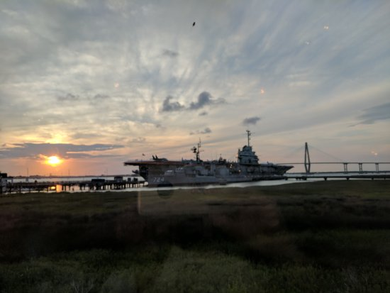 Uss yorktown from inside the fish house great views for Charleston harbor fish house