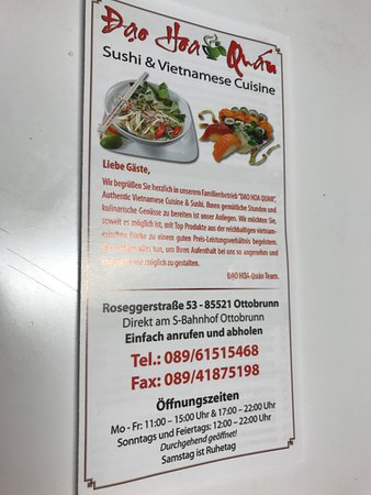 Ottobrunn, Jerman: SPEISEKARTE