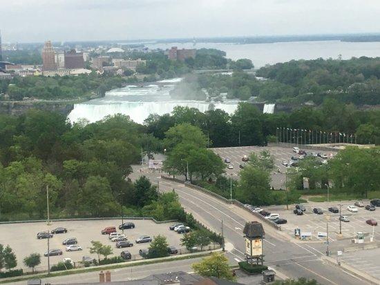 DoubleTree Fallsview Resort & Spa by Hilton - Niagara Falls: 19th floor room view of US falls