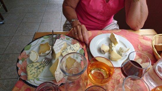 La Plage: assiette de fromage
