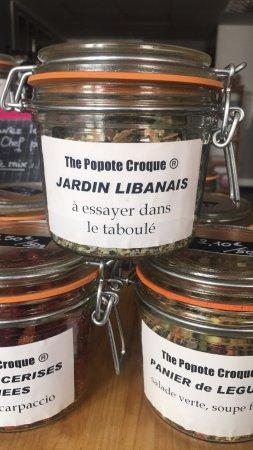 """Tarare, Francia: Les produits Maison de The Popote et sa marque déposée """"The popote Croque"""""""