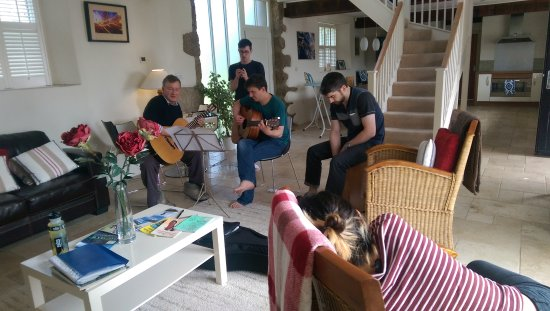 Chagford, UK: Music rehearsal for a friend's wedding
