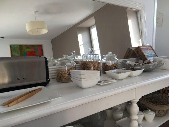 Ahetze, Frankrike: buffet vide