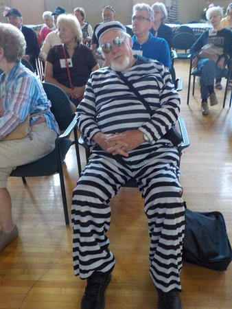 Jackson Historic Prison Tours: One of the members of our group dressed for the occasion.