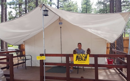 "Campground by the Lake: Our Tent Cabin, #3 ""Gentle Jeffrey"""