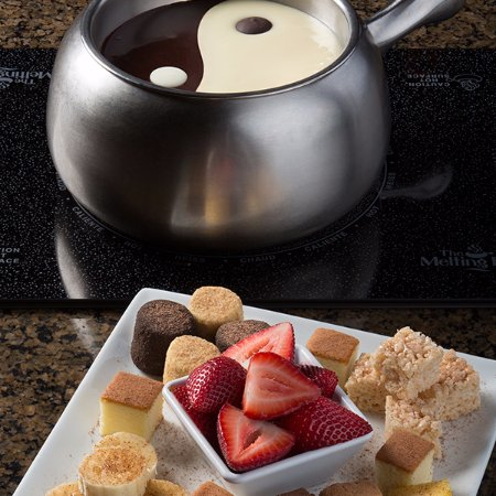 Yin And Yang Melting Pot Chocolate Fondue Picture Of The