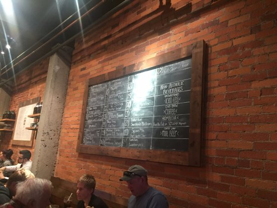 Moscow, ID : Board listing the excellent beer