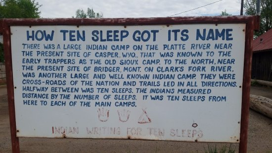 Ten Sleep sign