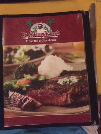 Buckingham's Prime Rib and Steakhouse, Branson - Menu ...