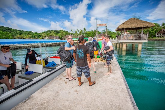 Koror, Palau: Guest PIck up and Drop Off at Hotel Dock. We valet your gear all week!