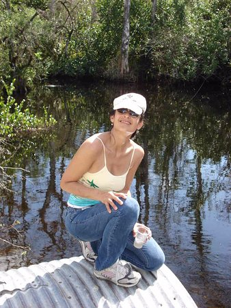 Big Cypress National Preserve: The park encompasses huge wetlands containing creatures such as the alligator over my left shoul