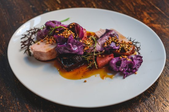 Malt Dining : Pork loin. black pudding