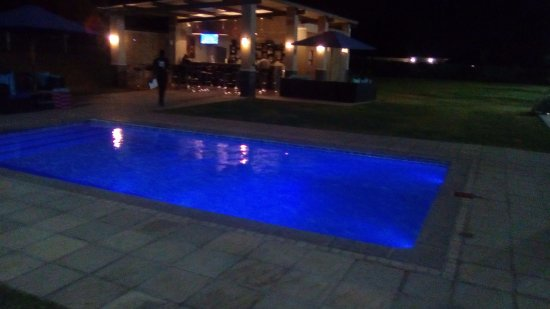 Ndola, Zambia: Pool and outside Bar