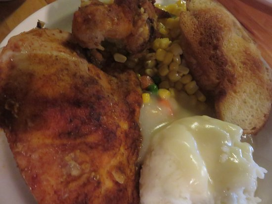 The Shed: Monday special is baked chicken and mashed potatoes