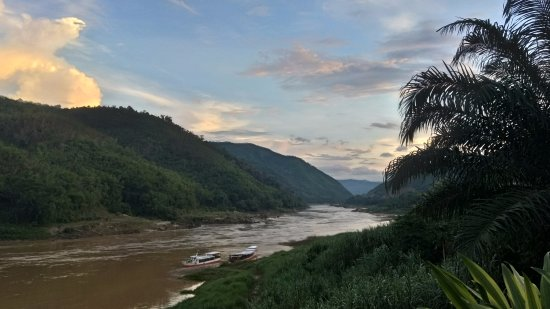 Pakbeng, Laos: Nice sunset view