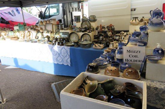 Woombye, Australia: A local potters stall.