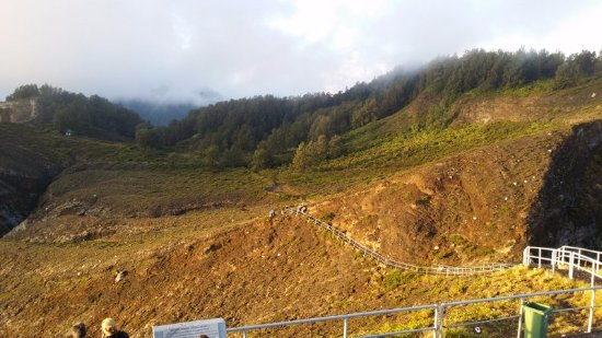 Mount Kelimutu: The last section is quite steep
