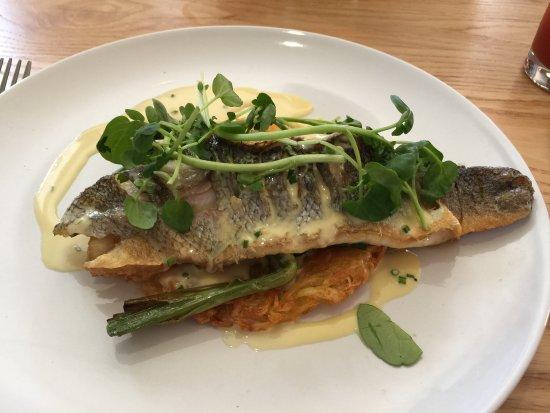 Farthinghoe, UK: Fillet of sea bass