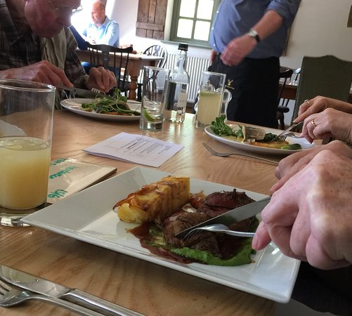 Farthinghoe, UK: Purston rump of lamb - too good to wait for photo