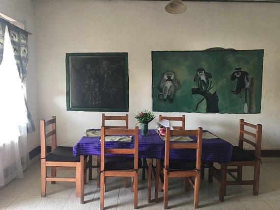 Kisoro, Uganda: Dining area