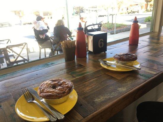 Yackandandah, Australia: Steak pies for lunch