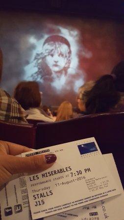Les Miserables London: seats