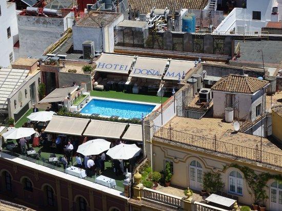 Hotel Dona Maria: hotel vuede la cthédrale