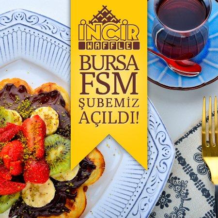 Incir Waffle: Bursa FSM Bulvarı şubemiz açıldı!