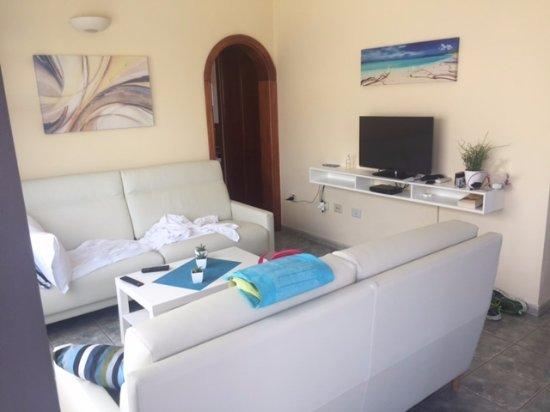 Villas Blancas: the living room