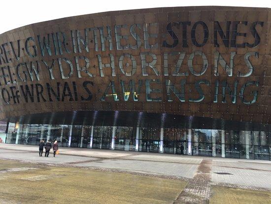 Wales Millennium Centre: Outside Cardiff Millennium Centre