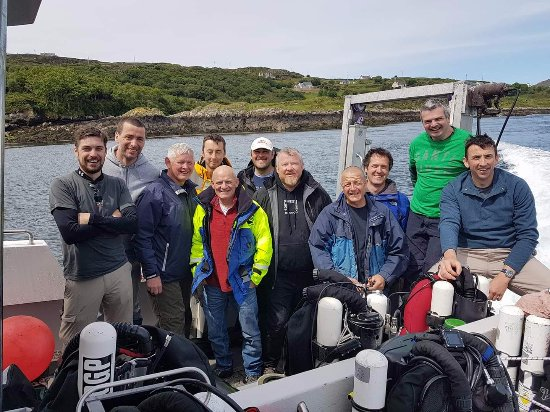 ‪‪Carrigart‬, أيرلندا: Happy divers at the end of an amazing 1 week long diving trip in Malin Head‬