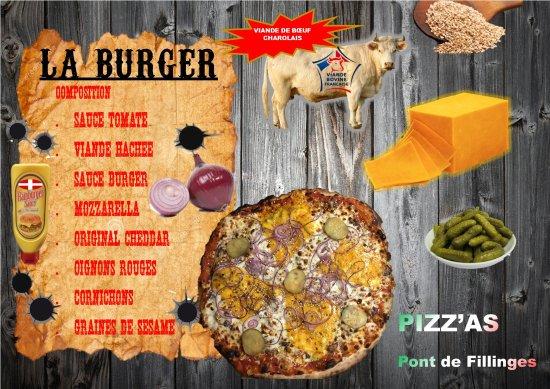 Fillinges, France: La pizza BURGER