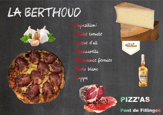 Fillinges, France: La pizza BERTHOUD