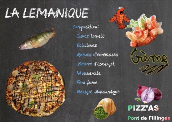 Fillinges, France: La pizza LEMANIQUE