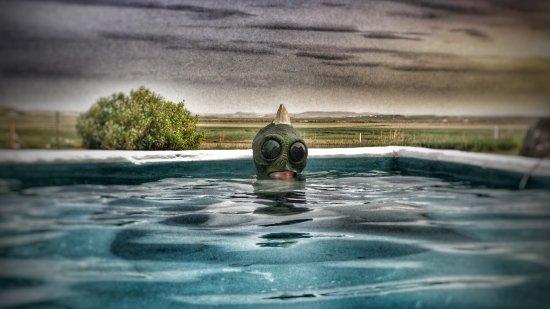 Fludir, Islandia: DouglasK dans son hot tub