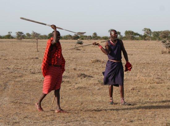 Porini Rhino Camp: Maasai warriors