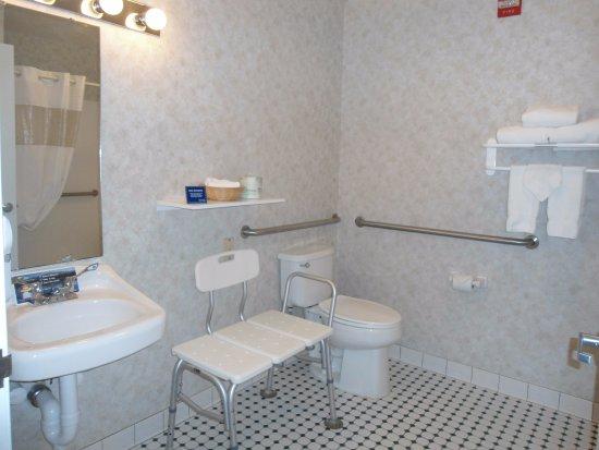 Inn at Cemetery Hill: Accessible Queen Pet Friendly Bathroom