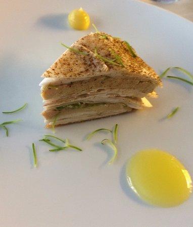 L'Astrance: le plat signature : 1000 feuilles foie gras champignons