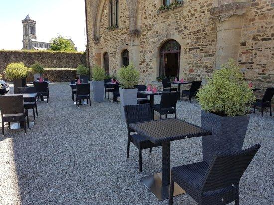 Bricquebec, Frankrike: terrace exterieur