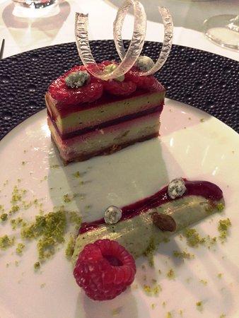 Chiberta: Dessert framboise pistache
