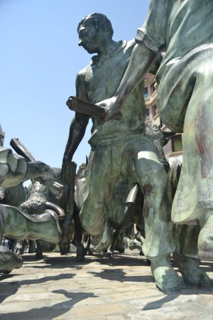 Monumento al Encierro: tradición