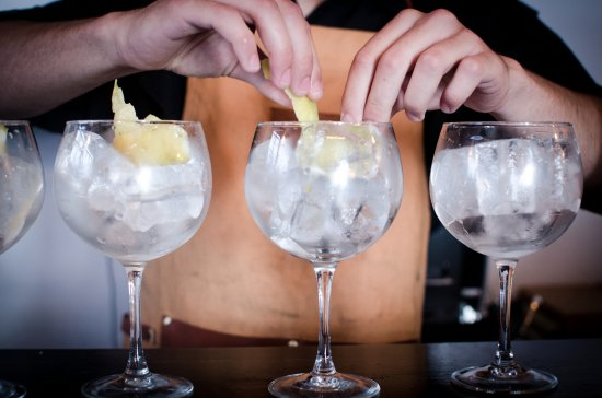 Tierra de Fuegos: Making some Gin&Tonics, our speciality.