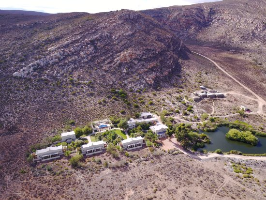 Sanbona Wildlife Reserve: A view of our lodge, from my drone.