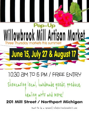 Northport, MI: Creekside Cuppa in Willowbrook Mill~ Don't miss the Summer Artisan Markets each month!
